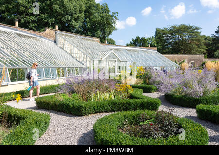 The Walled Garden and glasshouse at Fulham Palace, Fulham, London Borough of Hammersmith and Fulham, Greater London, England, United Kingdom - Stock Image