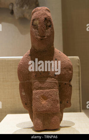 A Human Figurine. 300 BC -100 BC. AL-Ula, Saudi Arabia. Saudi Commission for Tourism and National Heritage. - Stock Image