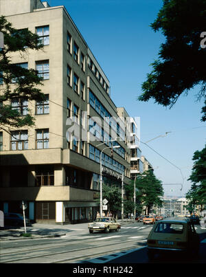 The Czechoslovak Radio Building on Vinohradska Street in Prague, Czechoslovakia, July, 1987. (CTK Photo/Pavel Khol) - Stock Image