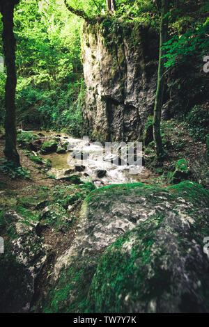Johannesbachklamm canyon in lower austria in summer - Stock Image