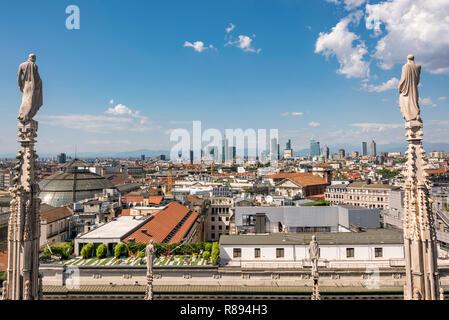 Horizontal aerial cityscape of Milan, Italy. - Stock Image