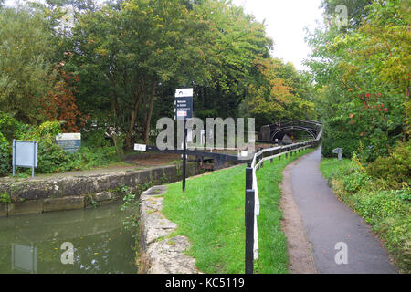 IsIs Lock on the Oxford Canal, Jericho, Oxford - Stock Image