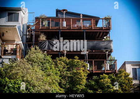 House made in wood eco-friendly way - Stock Image