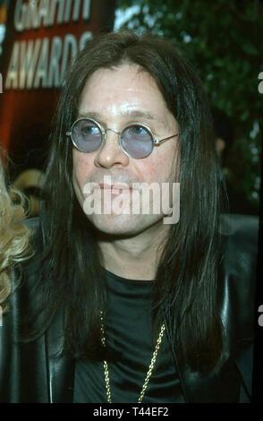 OZZY OSBOURNE English rock/pop singer in 2000. Photo: Jeffrey Mayer - Stock Image