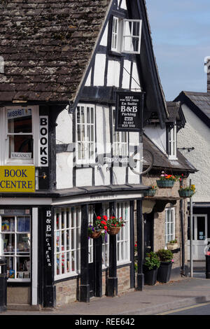 Hay-on-wye  Powys Brecon Beacons National Park Wales - Stock Image