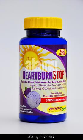 Natural heartburn remedy - Stock Image