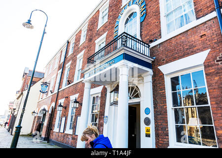 the beverley arms hotel, Beverley Town Yorkshire UK England, the beverley arms, hotel, hotels, front, sign, entrance, Beverley Arms Hotel, Beverley UK - Stock Image