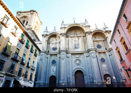 cathedral of granada - Stock Image
