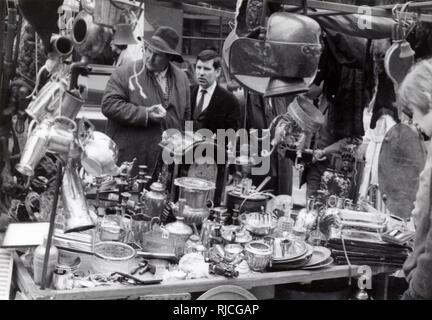 Portobello Road Market - Bric a Brac Stall. - Stock Image