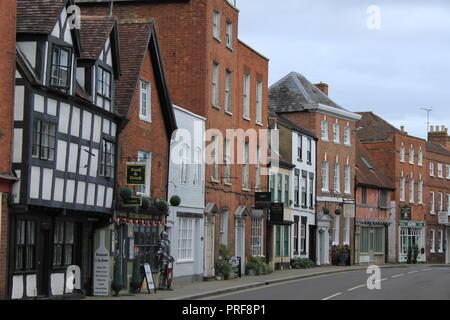 Tewkesbury High Street Gloucestershire - Stock Image