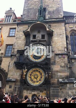 Astronomical clock, Prague Czech Republic - Stock Image