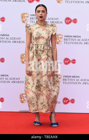LONDON, UK. May 12, 2019: Bel Powley arriving for the BAFTA TV Awards 2019 at the Royal Festival Hall, London. Picture: Steve Vas/Featureflash - Stock Image