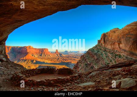 Lost Kiva Canyonlands NP - Stock Image