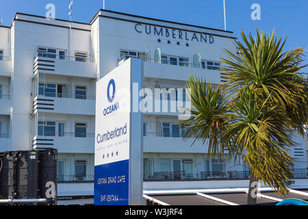 The Cumberland Hotel at Bournemouth, Dorset UK in July - Stock Image