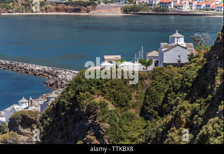 Small Churches in Skopelos Town, Northern Sporades Greece. - Stock Image