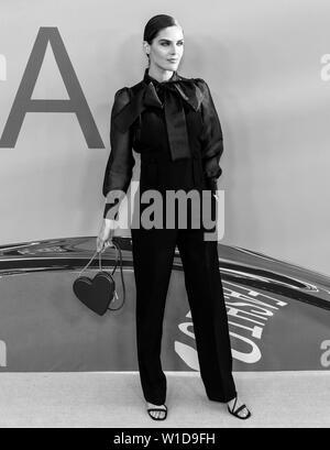 New York, NY - June 03, 2019: Hilary Rhoda attends 2019 CFDA Fashion Awards at Brooklyn Museum - Stock Image