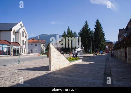 WWI general Janko Vukotic statue in Mojkovac city in northern Montenegro, August 31, 2018. (CTK Photo/Libor Sojka) - Stock Image