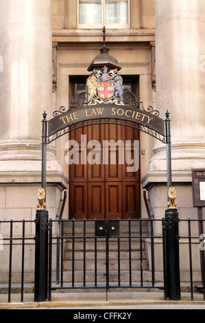 Entrance to The Law Society library Chancery Lane London - Stock Image