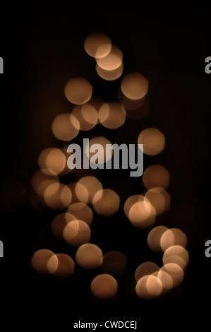 Blurry Christmas Tree Lights - Stock Image