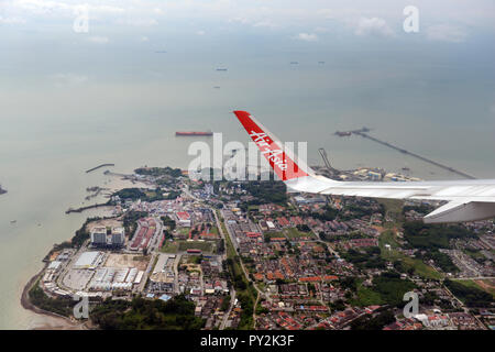 Aerial view of Port Dickson in Malaysia. - Stock Image