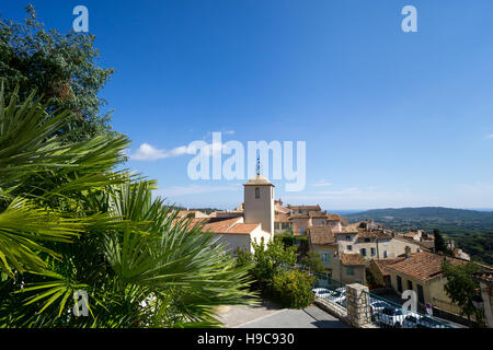 The French hilltop village of Ramatuelle, on the French Riviera in the Var, South of France - Stock Image