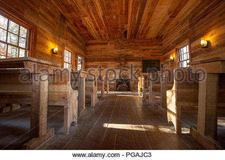School House, Cradle of Forestry Interpretive Center, Pisgah National Forest, North Carolina - Stock Image