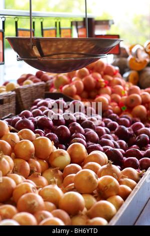 Vegetables at greegrocer's - Stock Image