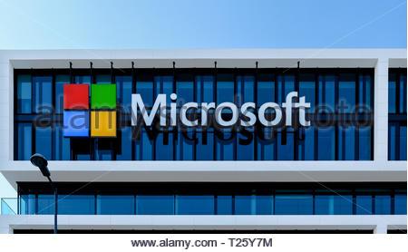 MUNICH, Microsoft Headquater in Munich Germany - March 30, 2019 - Stock Image