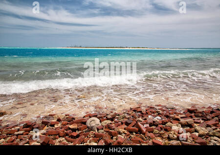 Dry Tortugas National Park - Sea and sky view from shores of Garden Key , Florida - Stock Image