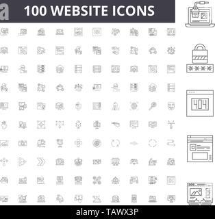 Website line icons, signs, vector set, outline illustration concept  - Stock Image