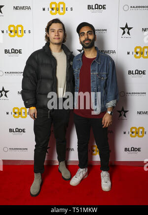 '90 Minutes' Launch Event hosted by executive producer Rio Ferdinand and director Simon Baker to celebrate the digital download and DVD release on 1 April  Featuring: Robert Ristic, Waleed Akhtar Where: London, United Kingdom When: 19 Mar 2019 Credit: PinPep/WENN.com - Stock Image