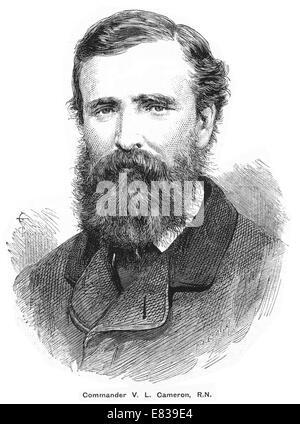 Commander Verney   Lovett Cameron R N circa 1885 - Stock Image