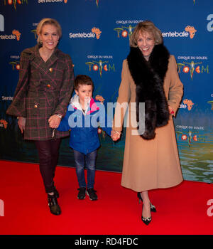 London, United Kingdom. 16 January 2019. Dame Esther Rantzen arrives for the red carpet premiere of Cirque Du Soleil's 'Totem' held at The Royal Albert Hall. Credit: Peter Manning/Alamy Live News - Stock Image