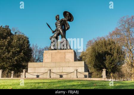 Sir Richard Westmacott's statue of Achilles (Wellington Monument) at Hyde Park Corner, London, UK - Stock Image