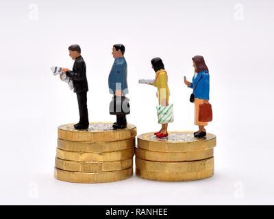 cash money savings people concept - Stock Image