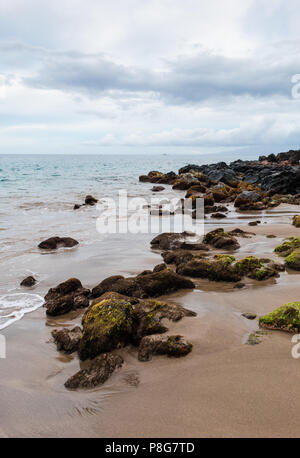 Beach shoreline on the west coast of Maui - Stock Image