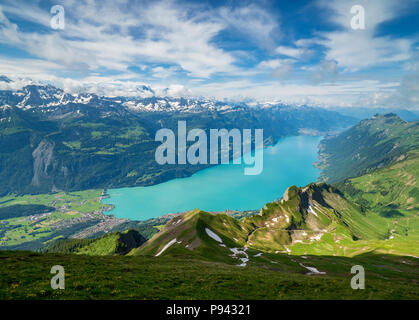 Brienzersee, view from Brienzer Rothorn - Stock Image