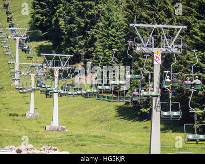 Chairift up to Hoher Ifen, Kleinwalsertal, Austria - Stock Image
