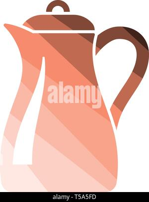 Glass jug icon. Flat color design. Vector illustration. - Stock Image