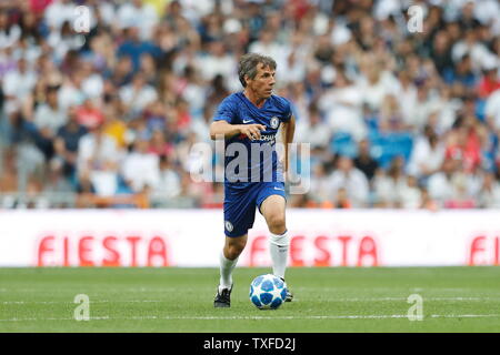 Gianfranco Zola (Chelsea), JUNE 23, 2019 - Football / Soccer : Friendly 'Corazon Classic Match 2019' between Real Madrid Leyendas 5-4 Chelsea Legends at the Santiago Bernabeu Stadium in Madrid, Spain. (Photo by Mutsu Kawamori/AFLO) - Stock Image