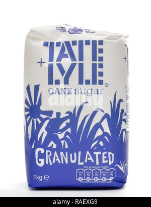 1kg Granulated Tate and Lyle cane sugar - Stock Image