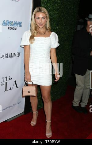Los Angeles, CA, USA. 18th Apr, 2019. Paige Lorentzen at arrivals for THIS IS L.A. Premiere Party, Yamashiro Hollywood, Los Angeles, CA April 18, 2019. Credit: Priscilla Grant/Everett Collection/Alamy Live News - Stock Image