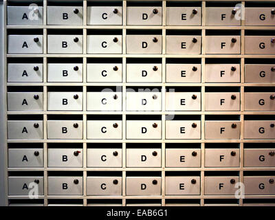 Apartment letter boxes. - Stock Image