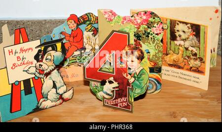 Vintage Greeting Cards - Social History - Stock Image