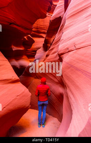Antelope Canyon, Navajo Tribal Park, Page, Arizona, United States of America, North America - Stock Image