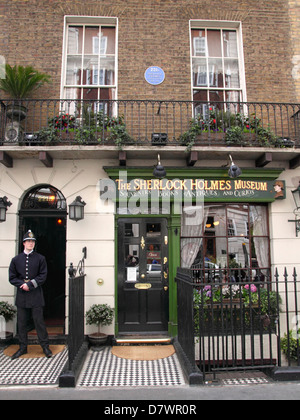 The Sherlock Holmes Museum 221b Baker Street London - Stock Image