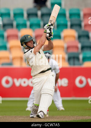 Cricket - Tour Match - Australia A v England XI - Day One - Bellerive Oval - Stock Image