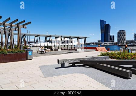 Victoria Harbour in Melbourne Docklands,Victoria Australia. - Stock Image