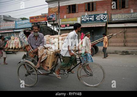 BANGLADESH Cycle rickshaw, Dhaka photo by Sean Sprague - Stock Image