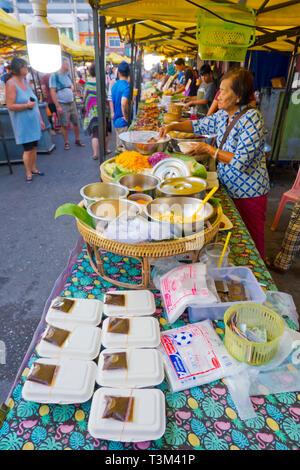 Night Market, Walking Street, Krabi town, Thailand - Stock Image